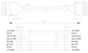 SCN804 Dimension Drawing for Cable
